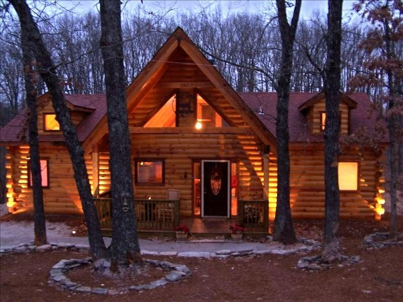 Best Branson Log Cabin Private Hot Tub Fireplace Wifi Golf With Pictures