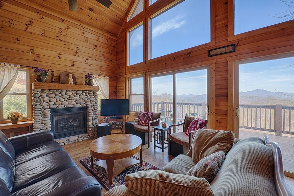 Best 5 Bedroom 3 Bath Log Cabin Awesome Views Game Room Hot With Pictures