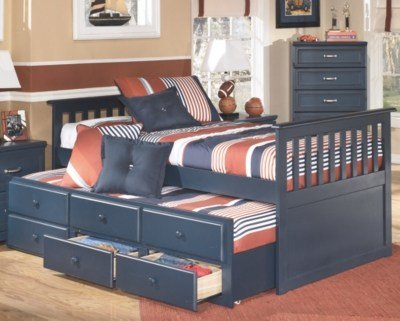 Best Leo Kids Twin Trundle Bed Ashley Furniture Homestore With Pictures