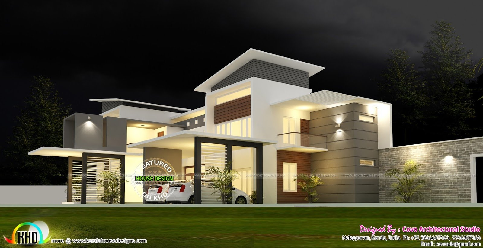 Best 5 Bedroom Modern Contemporary House Kerala Home Design With Pictures