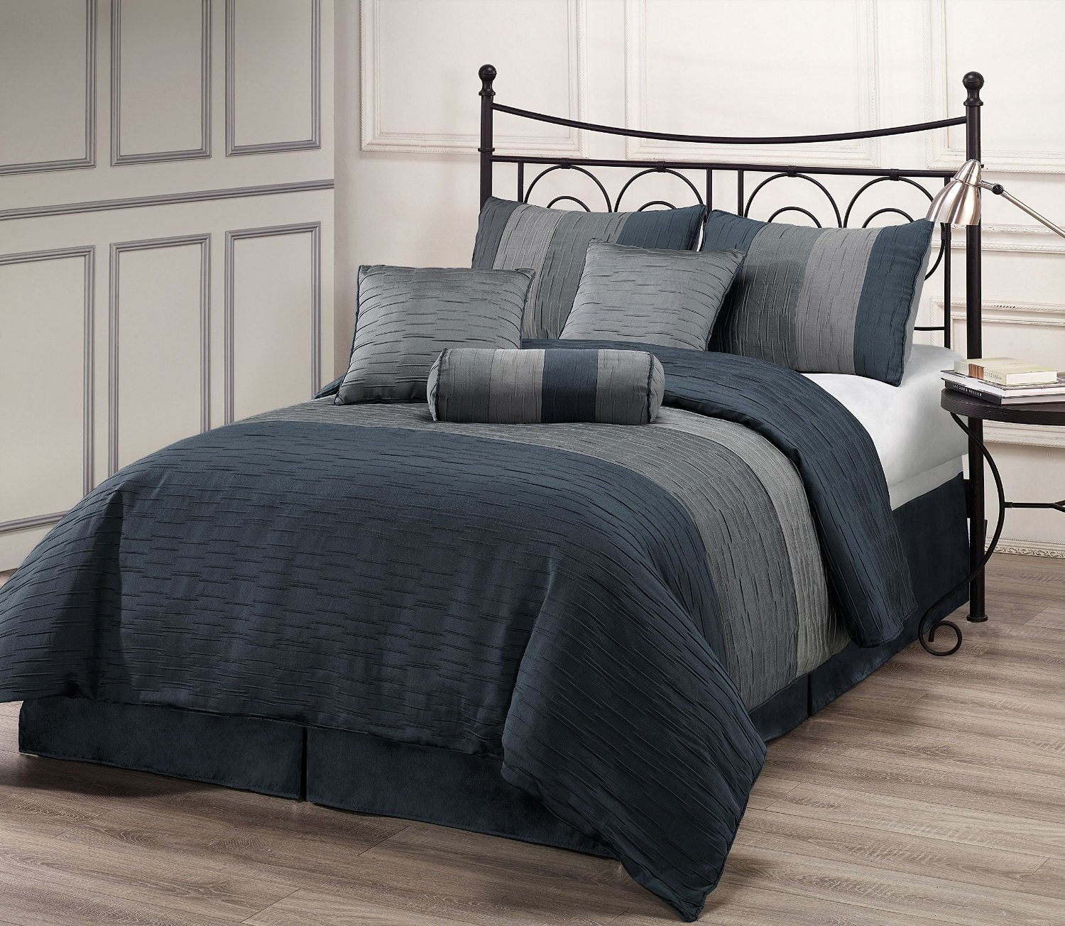 Best Charcoal Grey Comforter Bedding Sets With Pictures