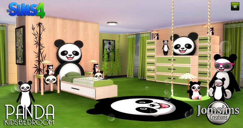 Best My Sims 4 Blog Panda Bedroom Set For Kids By Jomsims With Pictures