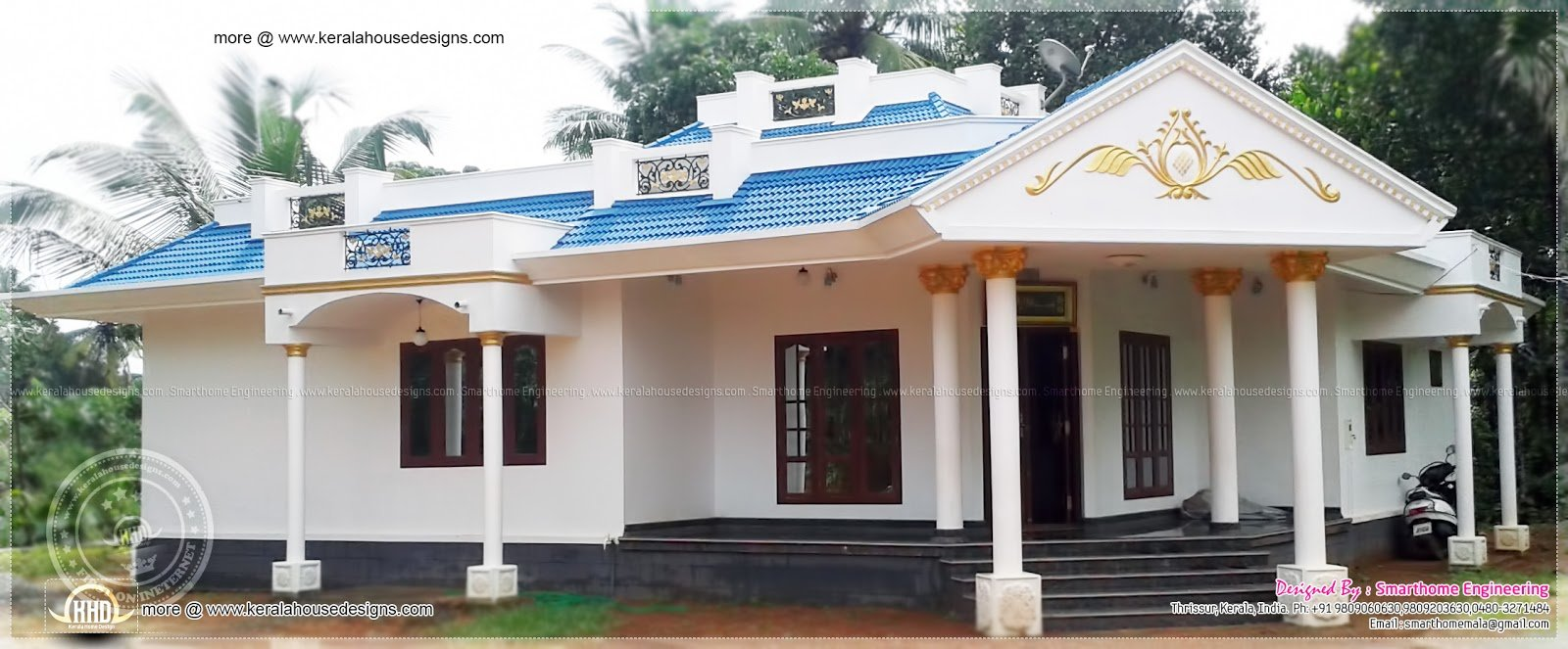 Best 1680 Sq Ft 3 Bedroom Single Floor House Kerala Home Design And Floor Plans With Pictures