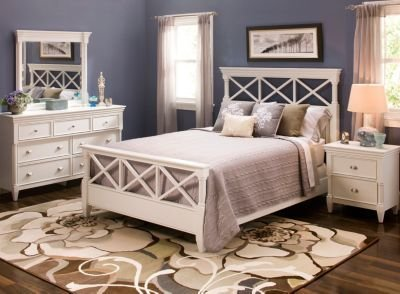 Best Retreat 4 Pc Queen Bedroom Set White Raymour Flanigan With Pictures