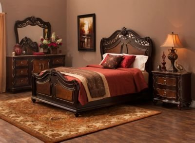Best Palazzo 4 Pc King Bedroom Set Mocha Raymour Flanigan With Pictures