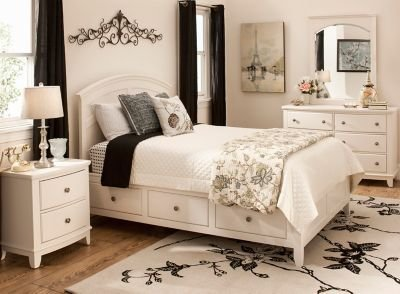 Best Kylie 4 Pc Twin Platform Bedroom Set W 1 Sd Storage Bed With Pictures