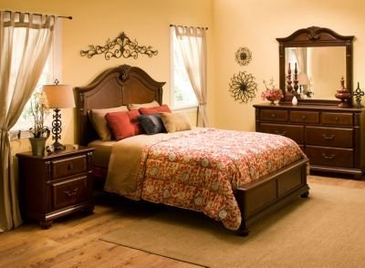 Best Ashbury 4 Pc King Bedroom Set Cherry Raymour Flanigan With Pictures