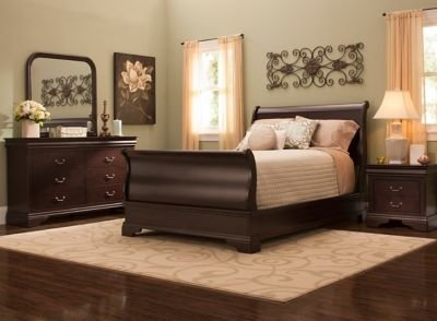 Best Charleston 4 Pc Queen Bedroom Set Cherry Raymour With Pictures