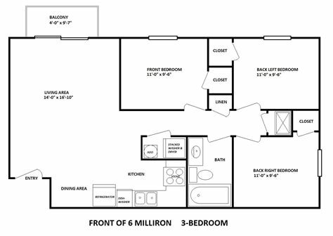 Best 6 Milliron 3 Bedroom Layout Bobcat Rentals Ohio University College Housing Athens Ohio With Pictures