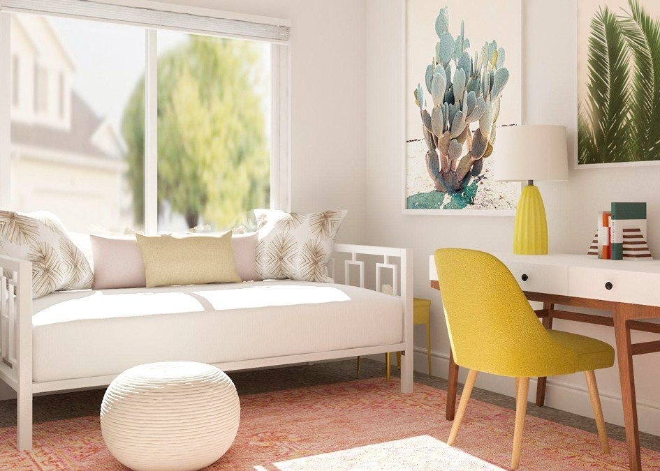 Best Simple Office Meets Guest Room Decorating Ideas – Modsy Blog With Pictures