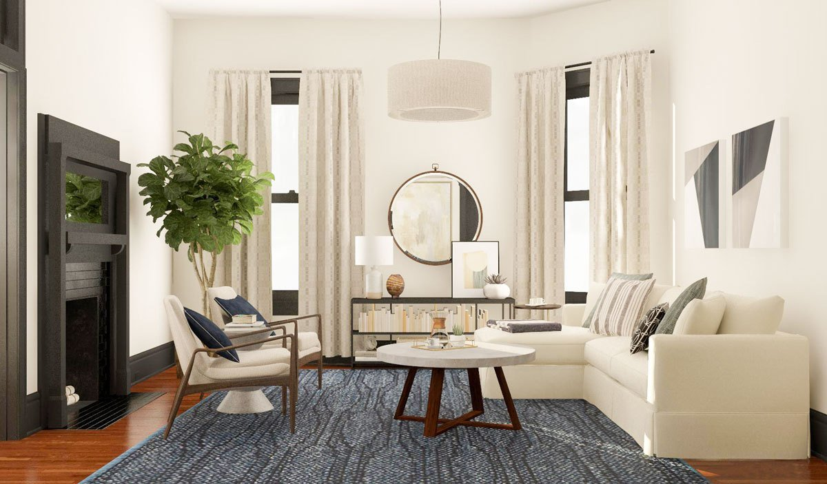 Best Layout Guide A Small Square Living Room Two Functional With Pictures