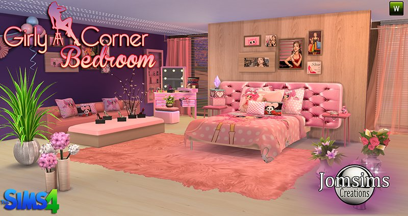 Best My Sims 4 Blog Girly Corner Bedroom Set By Jomsims With Pictures