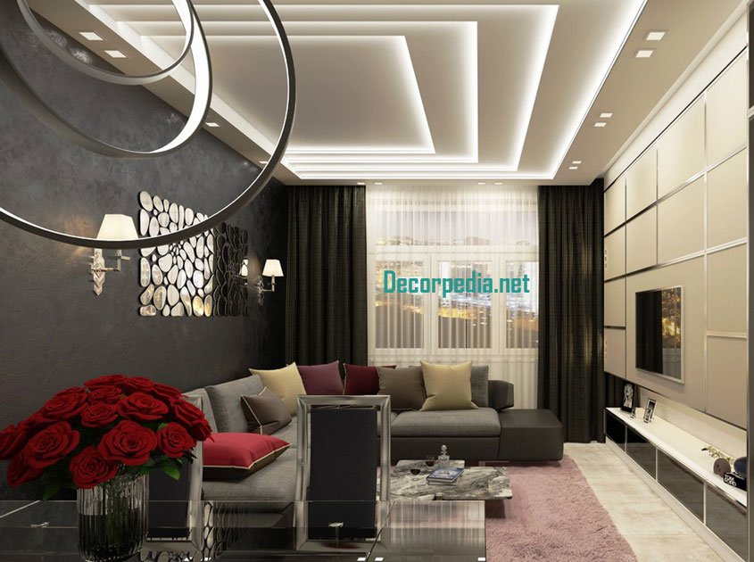 Best Latest Pop False Ceiling Design Ideas For Living Room And With Pictures