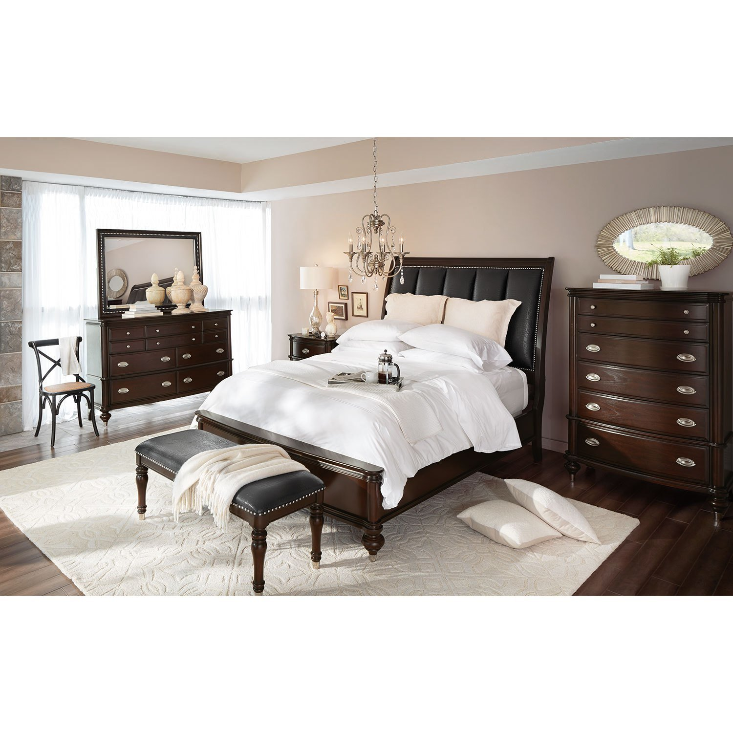 Best Esquire Nightstand Merlot American Signature Furniture With Pictures