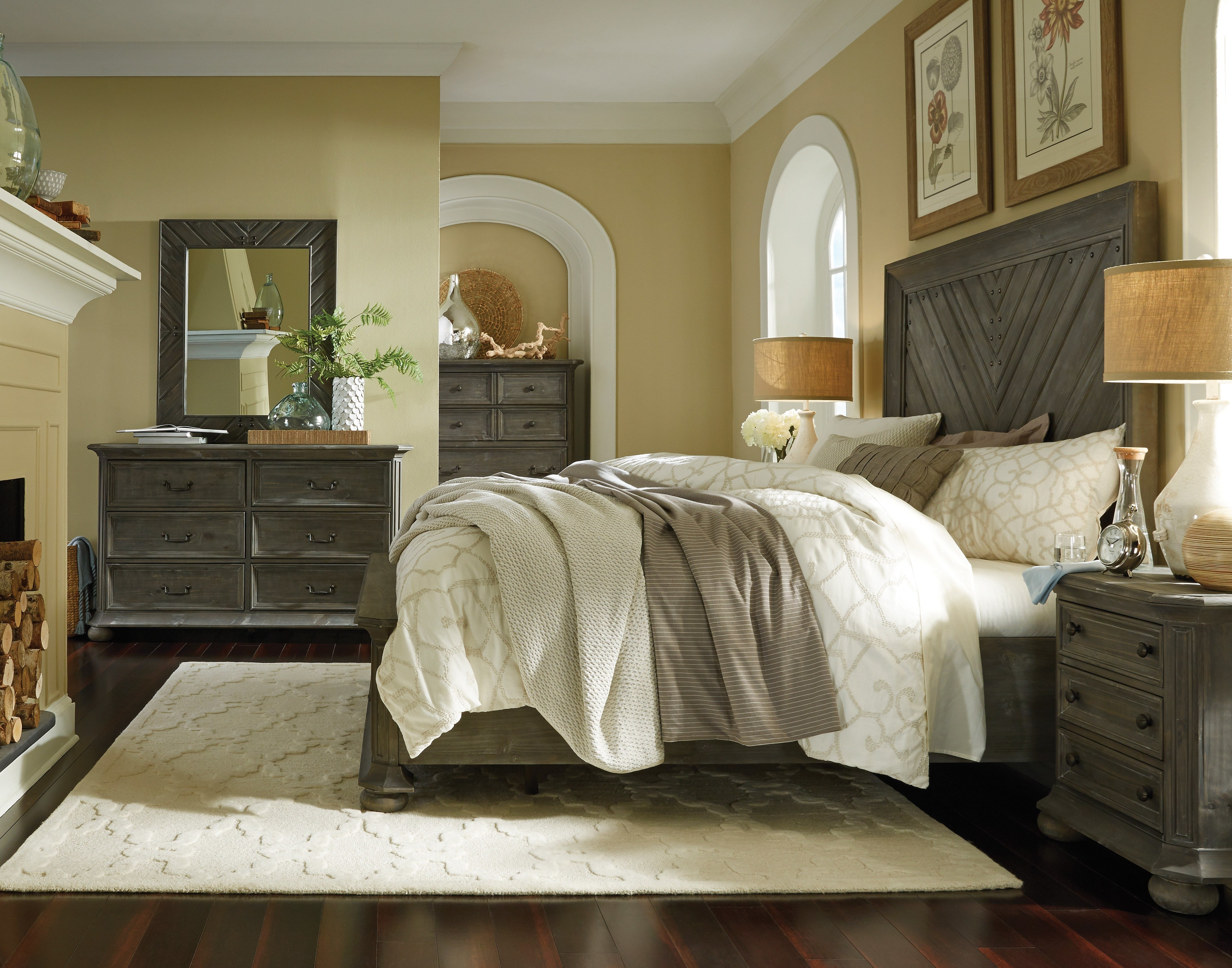 Best Cheswick 4 Piece Queen Bedroom Set Washed Gray Levin With Pictures