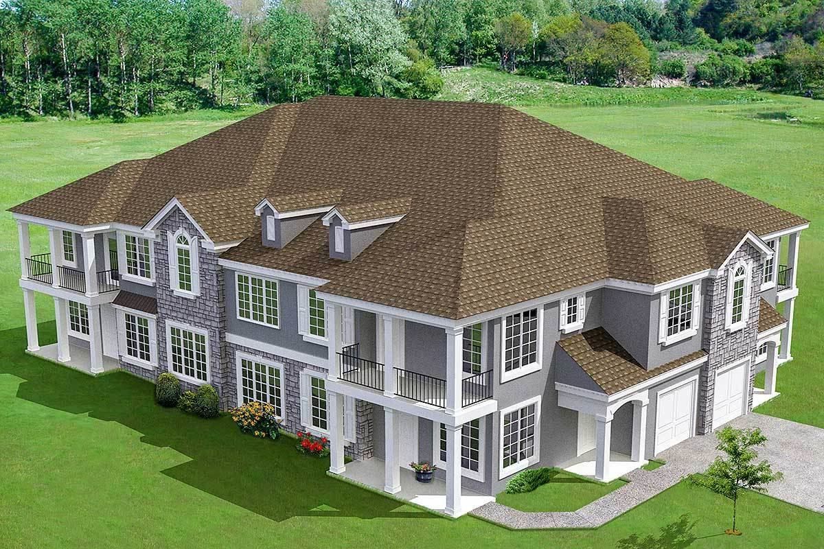 Best 8 Unit House Plan With Corner Decks 18511Wb With Pictures