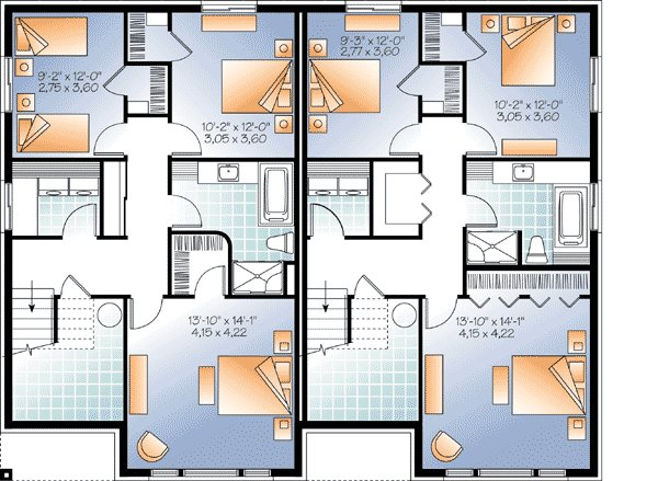 Best Contemporary Semi Detached Multi Family House Plan With Pictures