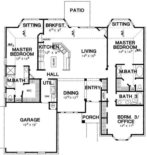 Best Double Master Bedroom House Plan 3056D Architectural With Pictures