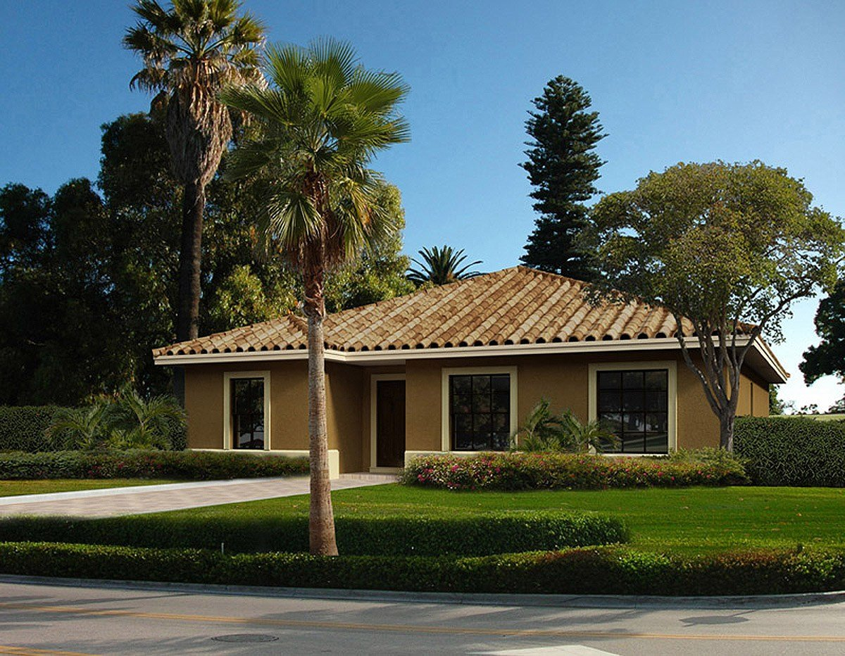 Best Small 4 Bedroom Mediterranean House Plan 32212Aa With Pictures