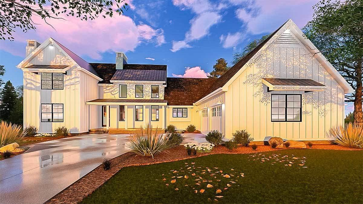 Best Five Bedroom Modern Farmhouse With In Law Suite 62666Dj With Pictures