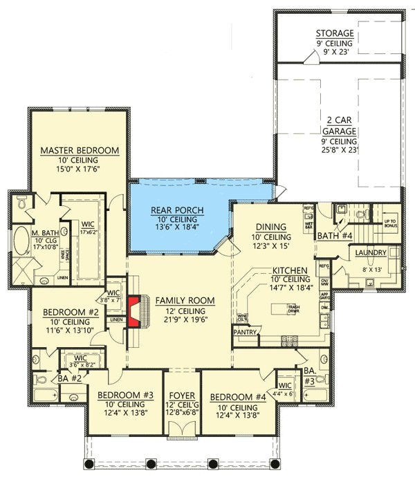 Best 4 Bed Acadian House Plan With Bonus Room 56385Sm 1St With Pictures