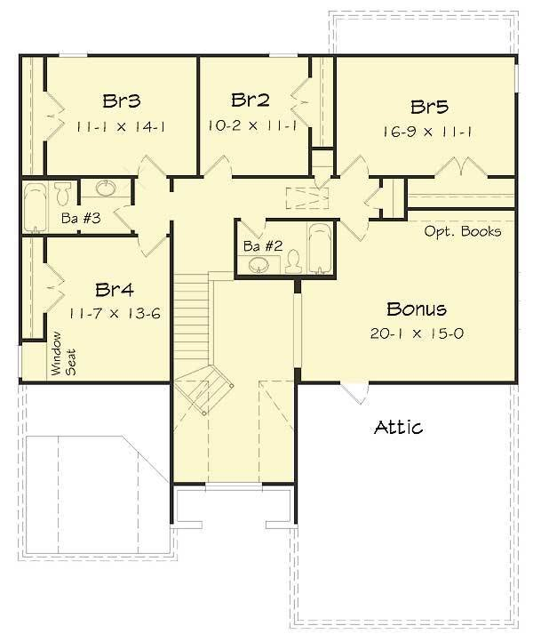 Best Five Bedrooms Plus A Bonus Room 68035Hr Architectural With Pictures