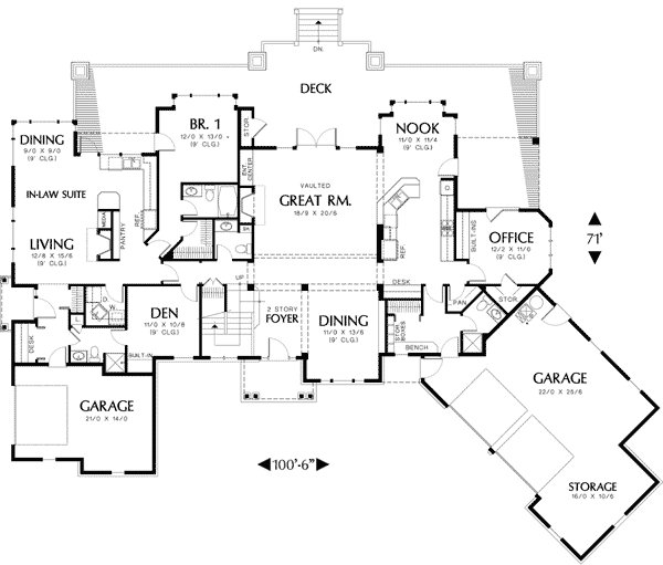 Best Two Story Plan With In Law Suite 69238Am Architectural With Pictures Original 1024 x 768