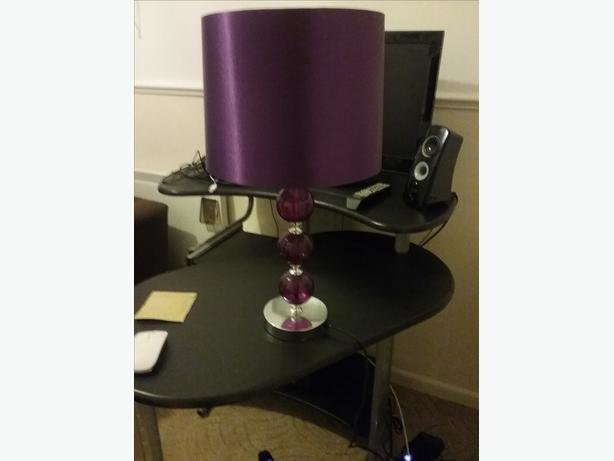 Best Purple Bedroom Lamp Tipton Dudley With Pictures