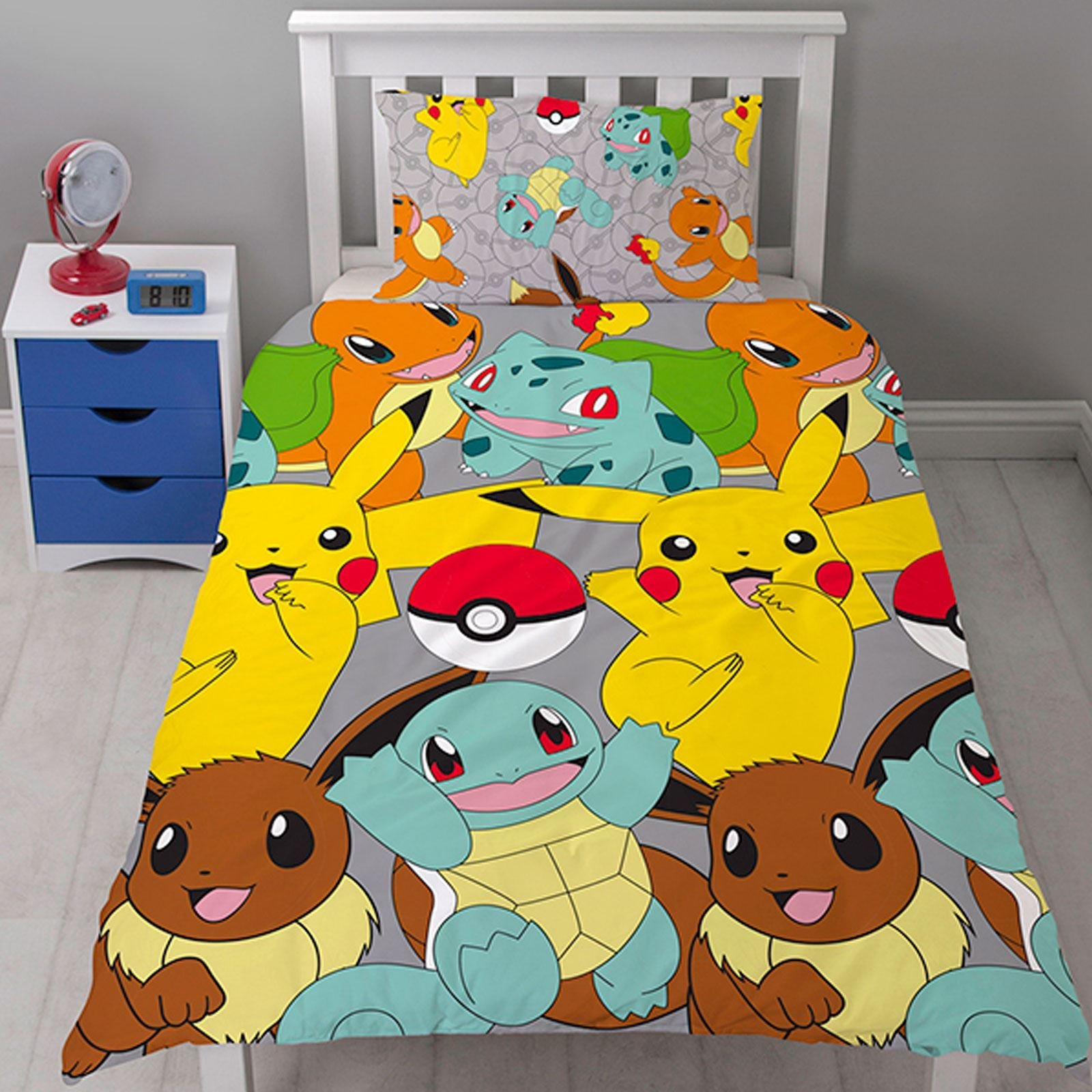 Best Pokemon Catch Rotary Duvet Cover Set New Kids Bedding With Pictures