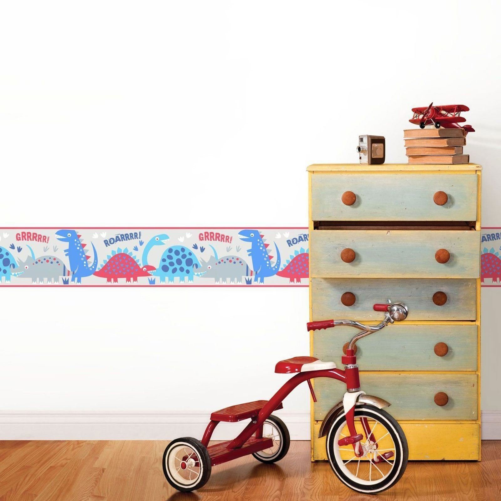 Best Boys Themed Wallpaper Borders Kids Bedroom Cars Dinosaur With Pictures