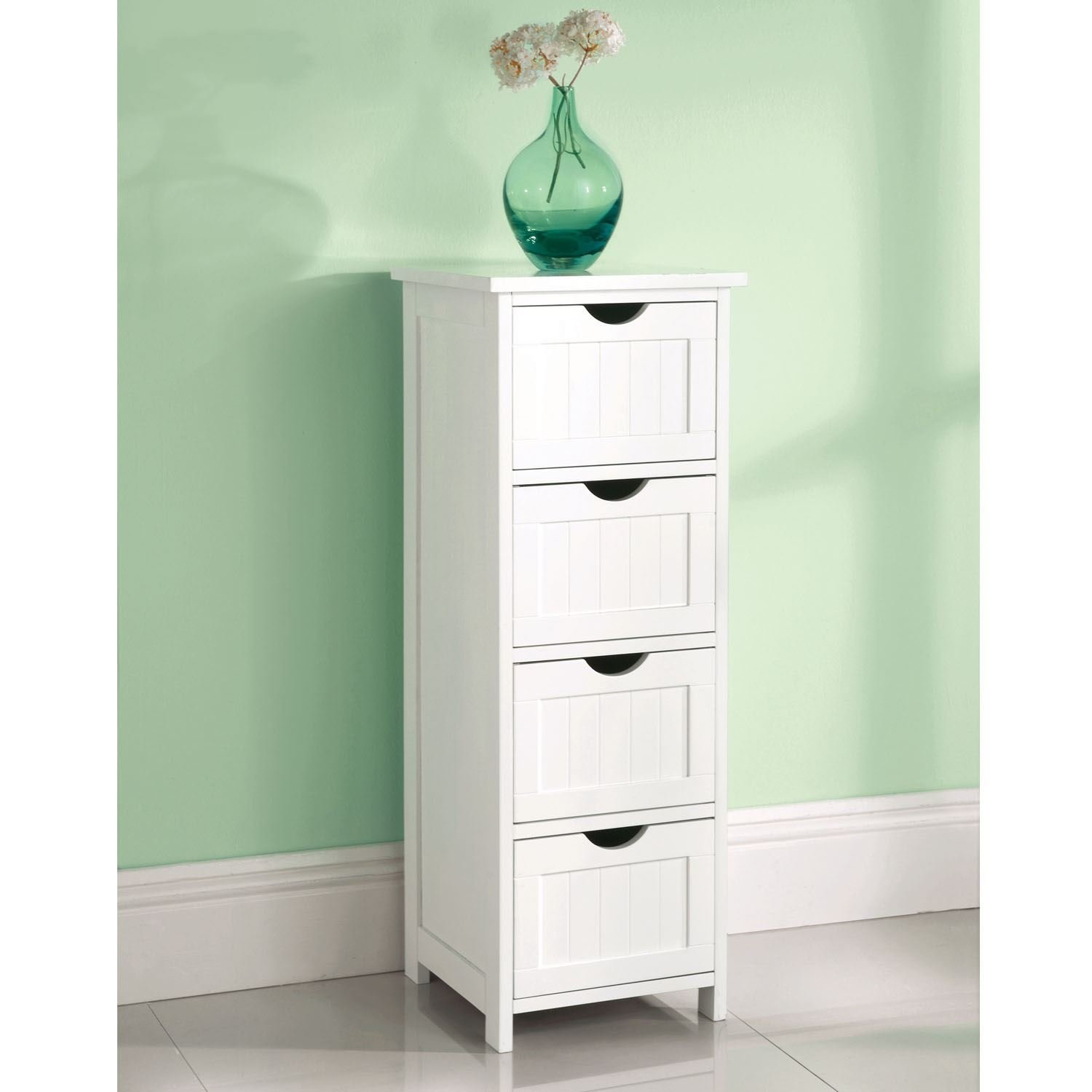 Best White Wooden 1 Drawer Bathroom Bedroom Cabinet Shelving Unit Storage Cupboard Ebay With Pictures