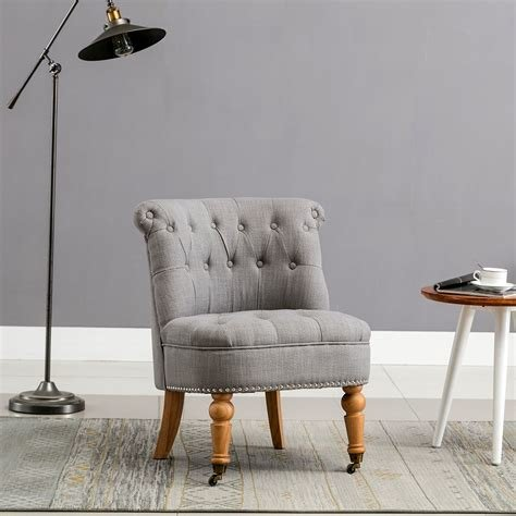 Best Keela Linen Button Back Occasional Accent Bedroom Chair With Pictures