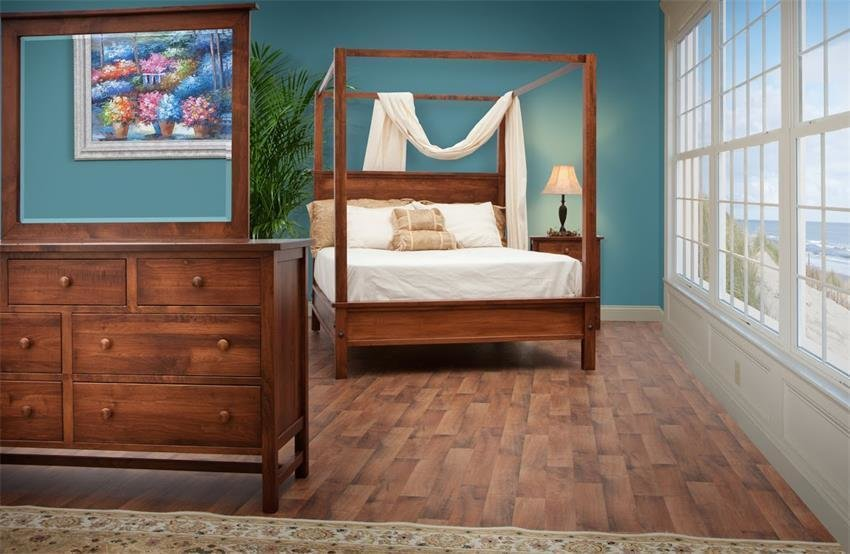 Best Modern Shaker Style Canopy Four Piece Bedroom Set From With Pictures