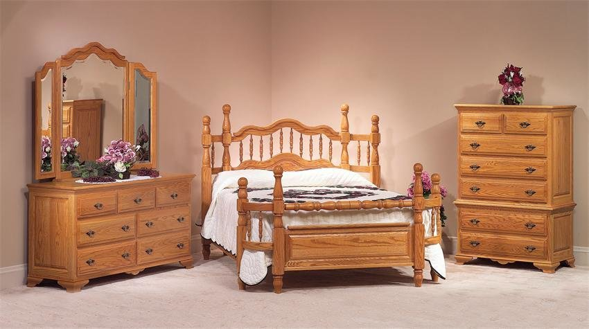 Best Oak Wrap Around Four Piece Bedroom Set From Dutchcrafters With Pictures