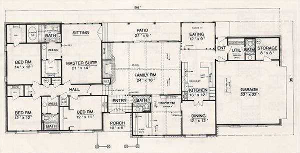 Best Ranch House Plan With 4 Bedrooms And 2 5 Baths Plan 3055 With Pictures