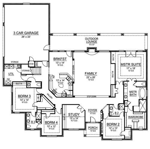 Best European House Plan With 4 Bedrooms And 3 5 Baths Plan 4474 With Pictures