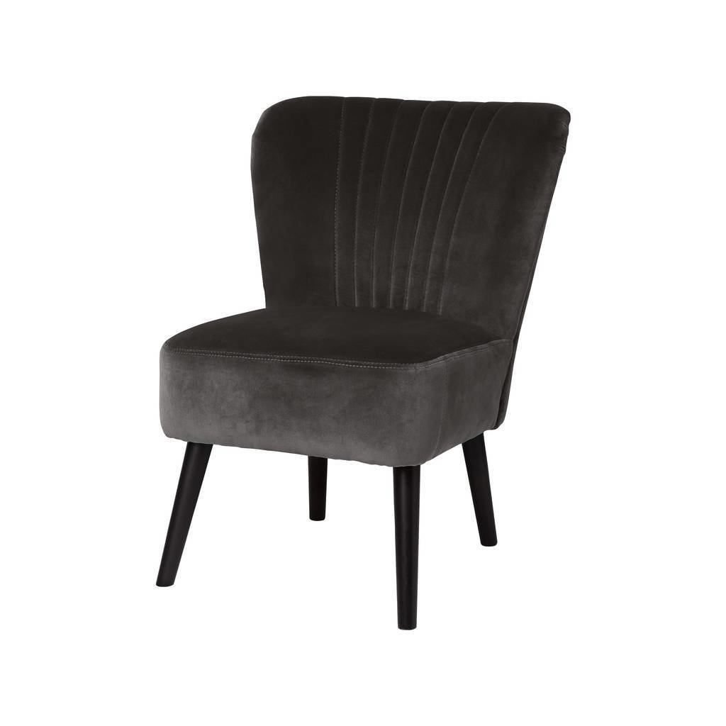Best Charcoal Grey Velvet Bedroom Chair By Ella James Notonthehighstreet Com With Pictures