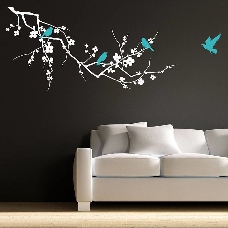 Best Birds On Branch Wall Stickers By Parkins Interiors With Pictures