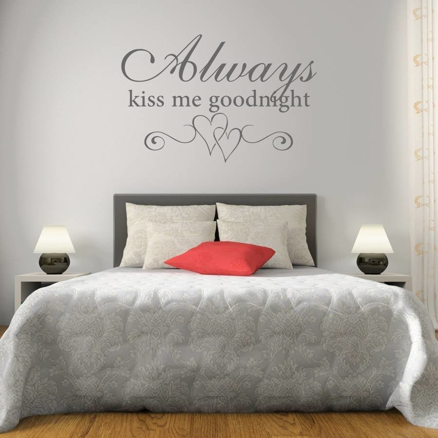 Best Kiss Me Goodnight Bedroom Wall Sticker By Mirrorin With Pictures