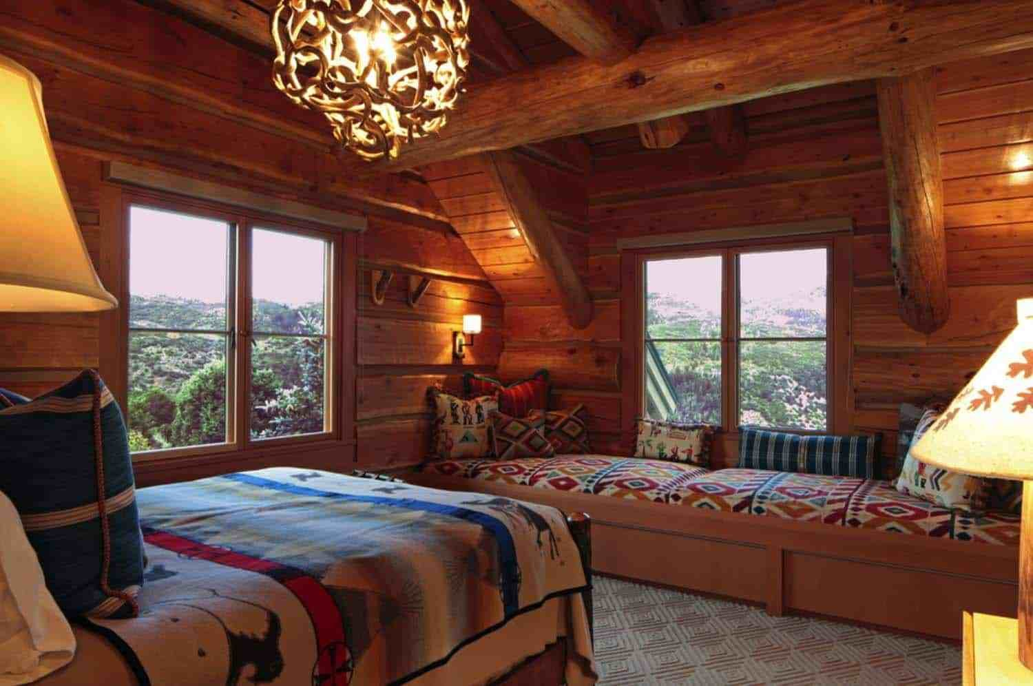 Best 35 Gorgeous Log Cabin Style Bedrooms To Make You Drool With Pictures