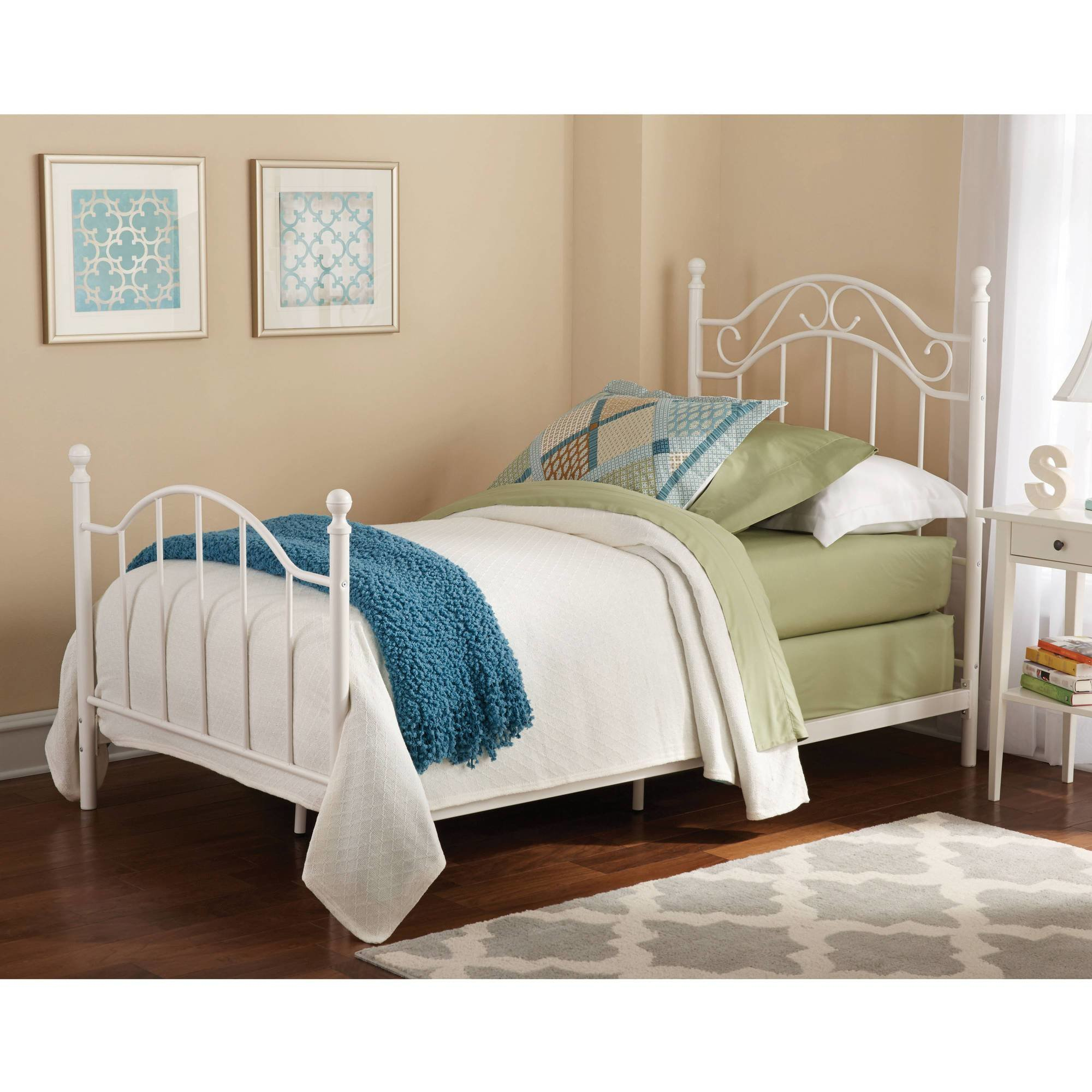 Best Twin Metal Bed Daybeds Frame Footboard Headboard Girls With Pictures