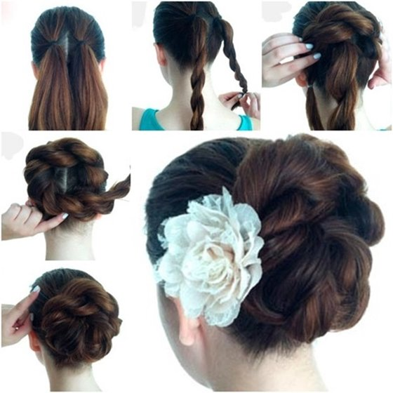 Free Wonderful Diy Twist Double Rope Bun Hairstyle Wallpaper