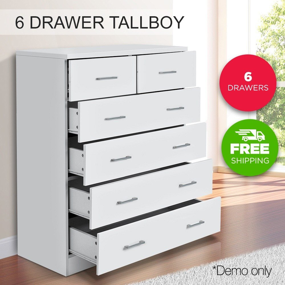 Best Buy Now Tallboy Dresser 6 Chest Of Drawers Table Cabinet With Pictures