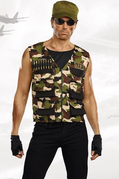 Best Hot Soldier Halloween Costume Men S Camouflage Army Vest With Pictures