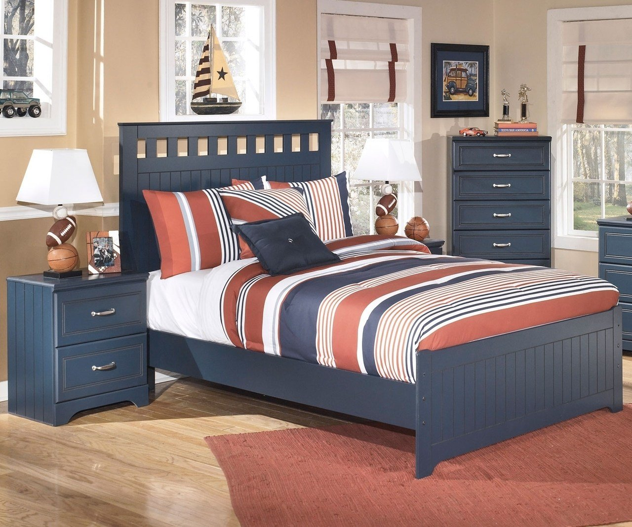 Best Leo B103 Full Size Panel Bed Ashley Kids Furniture Boys Bedroom Furniture With Pictures