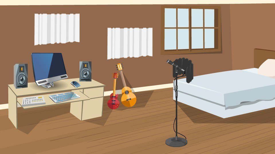 Best How To Set Up A Home Recording Studio In A Bedroom B H With Pictures