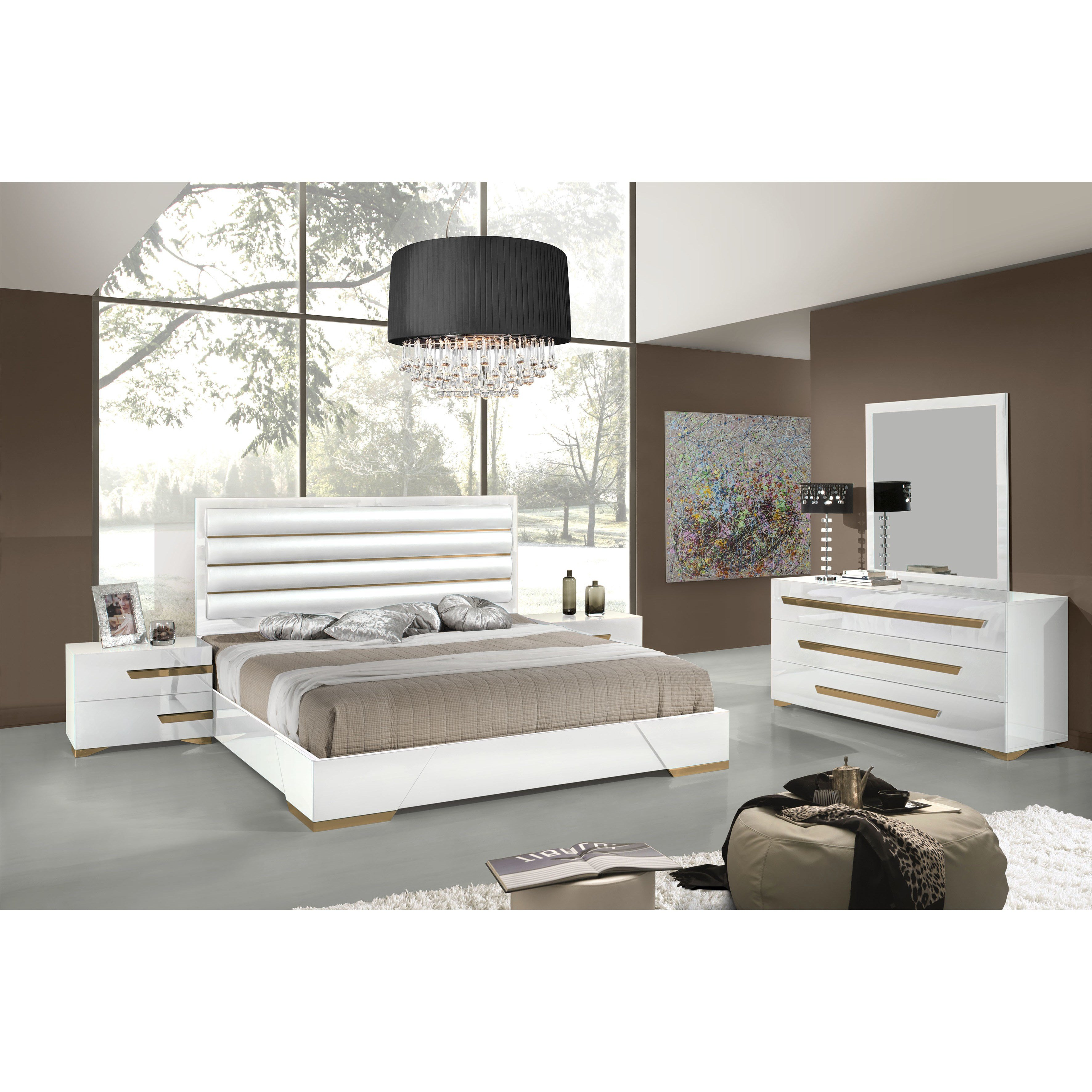 Best Vig Furniture Platform 5 Piece Bedroom Set Reviews Wayfair With Pictures