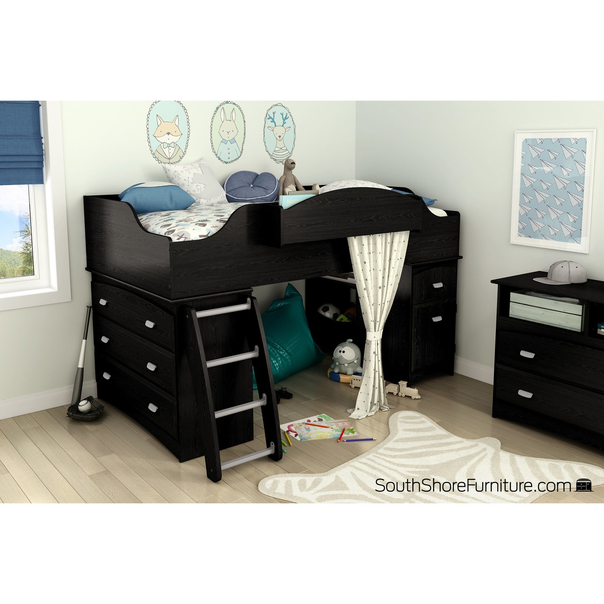 Best South Shore Imagine Twin Loft Bed Customizable Bedroom Set With Pictures