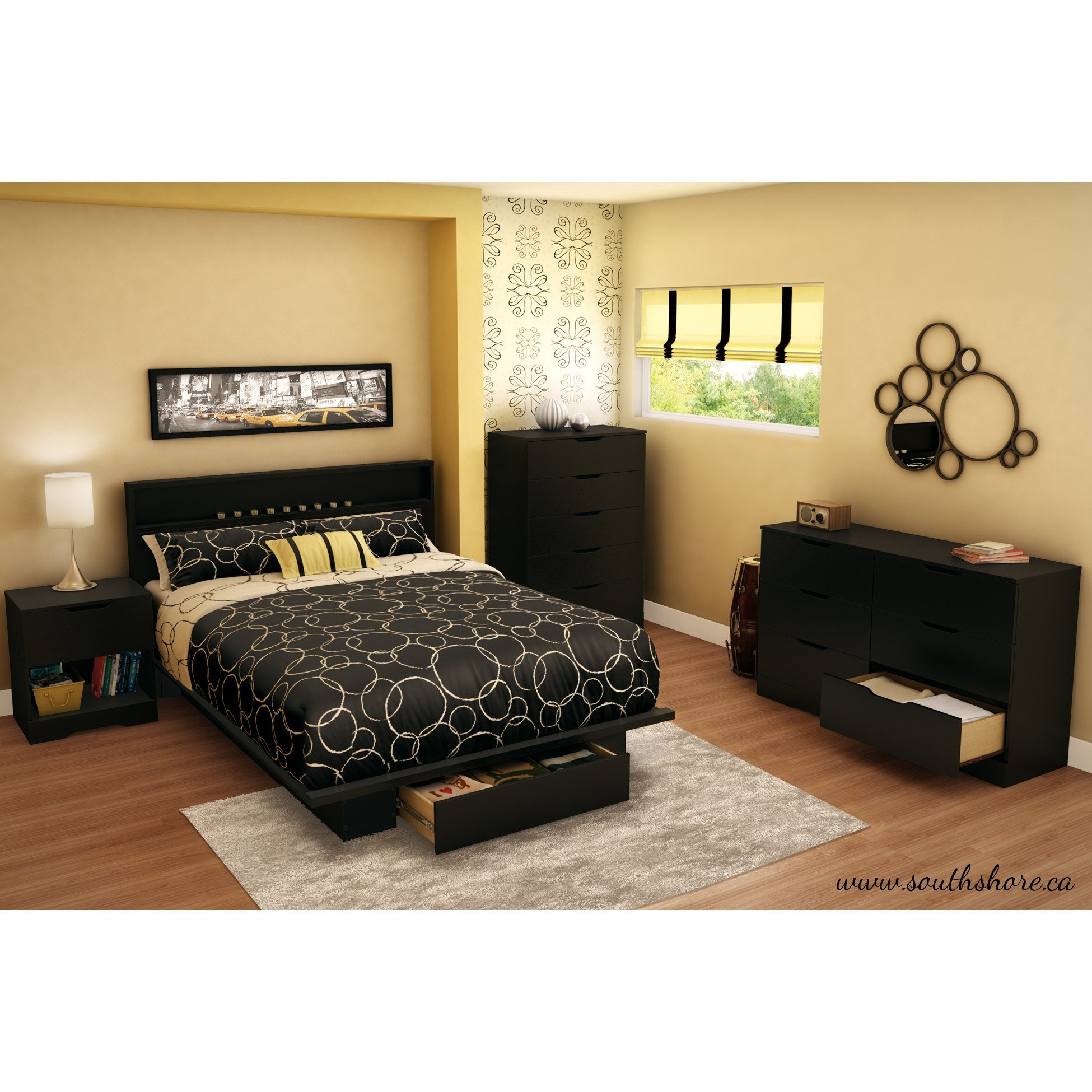 Best South Shore Holland Platform Customizable Bedroom Set With Pictures