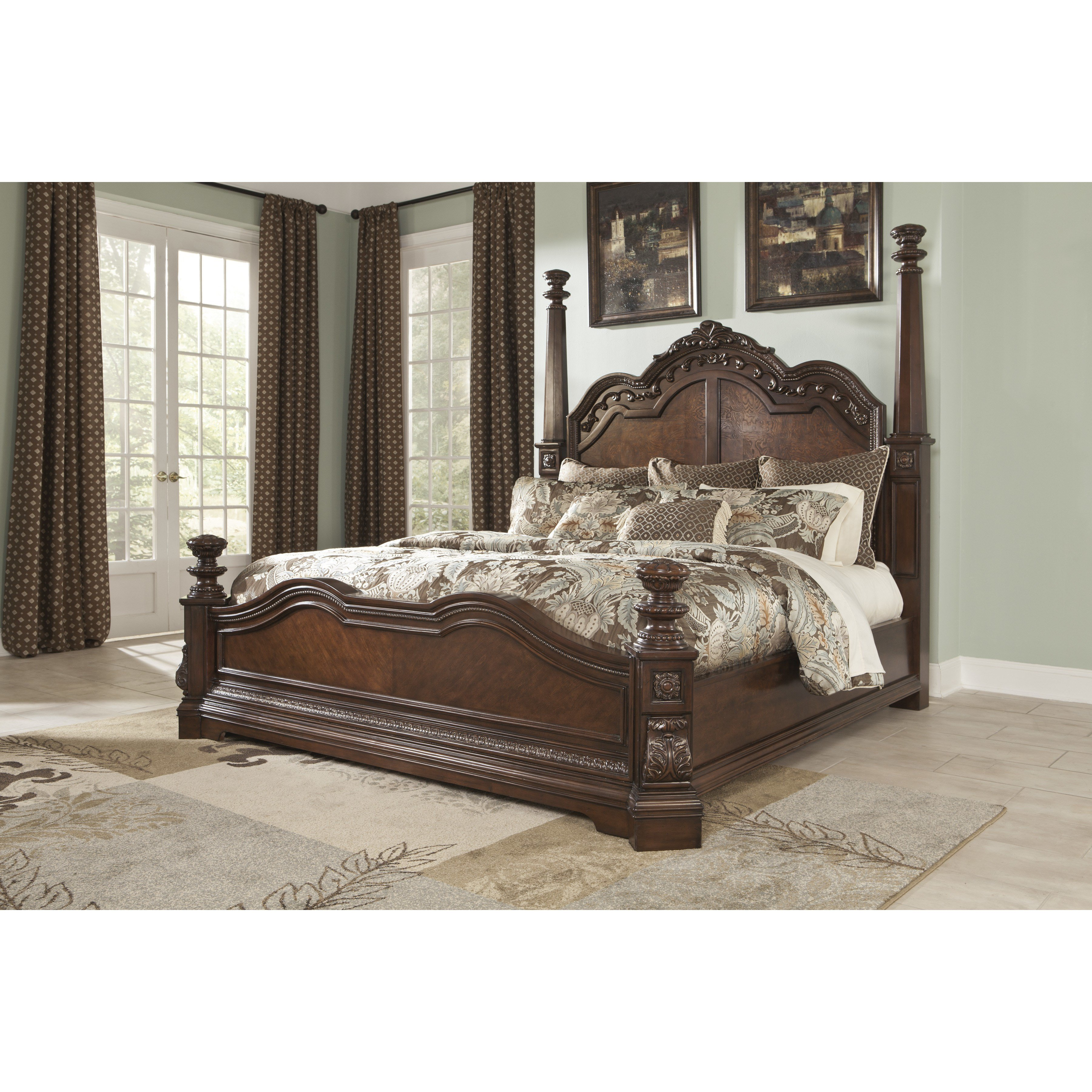 Best Signature Design By Ashley Ledelle Four Poster With Pictures